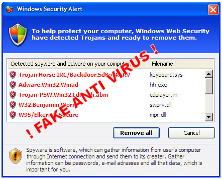 remove viruses fake